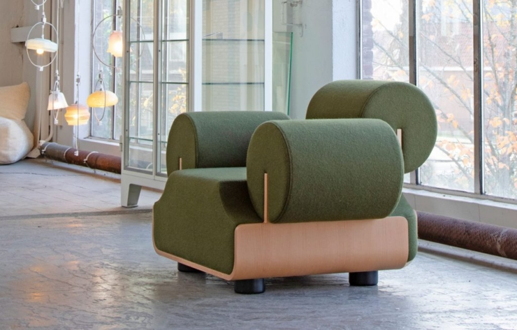 Piet Hein Eek ontwerpt cartooneske MVPHE stoel voor designlabel Spectrum.