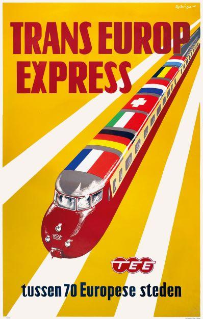 Spoorwegmuseum toont unieke treinaffiches – van art deco tot Anthon Beeke