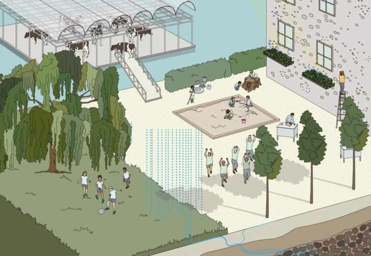 Expositie 'Waterschool' van Studio Makkink & Bey onderdeel van Architectuurbiënnale van Rotterdam