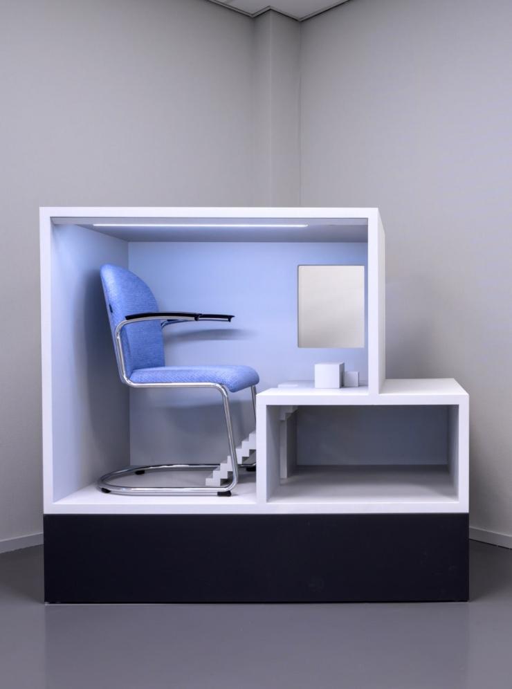 Erik Kessels ontwerpt mini-huizen als showroom voor Gispen Originals